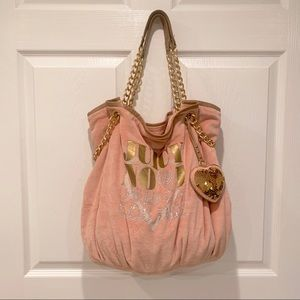 Juicy Couture || Vintage Velour Logo Tote